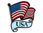 Dibujo Bandera de los Estados Unidos pintado por marctorres