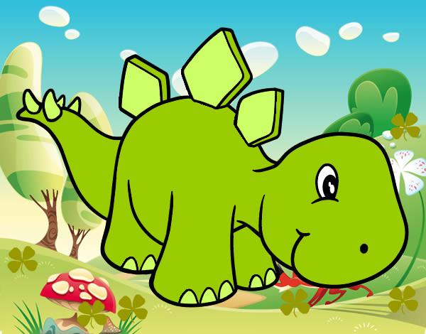 Dibujo de Dinosaurio bebe pintado por Dianarushe en Dibujosnet el
