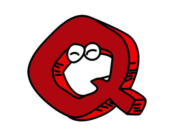 Dibujos Para Colorear Letra Q: Dibujo De Q Pintado Por Maria2000 En Dibujos.net El Día 10