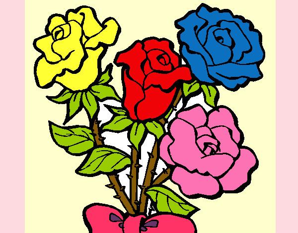 Dibujo de rosas pintado por Gene58 en Dibujos.net el día 15-07-12 ...