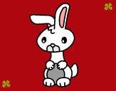 Dibujo Art el conejo pintado por yuerina