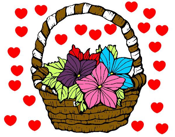 Dibujo de flores de colores pintado por Aracelie en Dibujosnet el