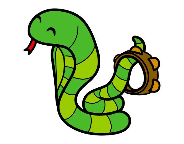 Dibujo de Serpiente cobra pintado por Mayraa en Dibujosnet el da