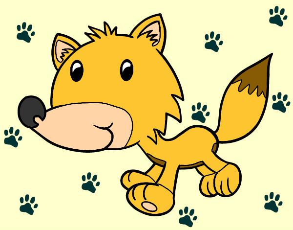 Dibujo de Coyote bebé pintado por Manup en Dibujos.net el día 17 ...