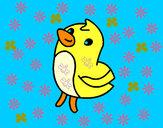 Dibujo Dibu el pollito pintado por santiool
