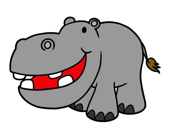 Dibujo de hipopotamo pintado por Juliana82 en Dibujosnet el da