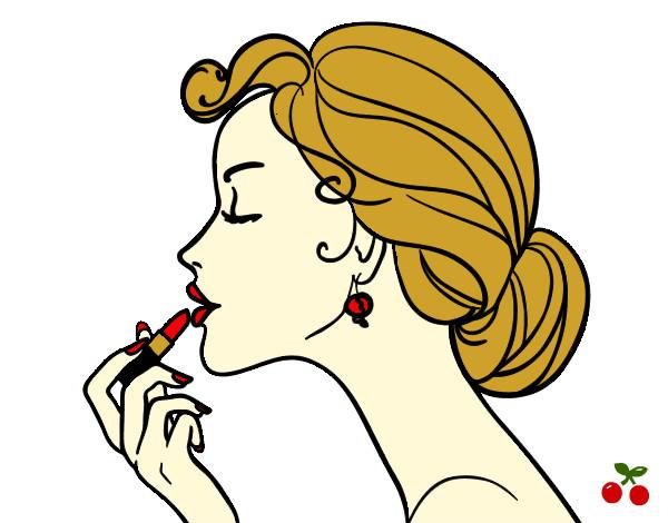 Dibujo de Pintar los labios pintado por Helenataca en Dibujos.net el ...