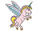 Dibujo Unicornio joven pintado por shama