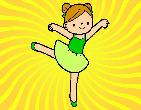Dibujo de Bailarina de ballet pintado por Queyla en Dibujos.net el ...