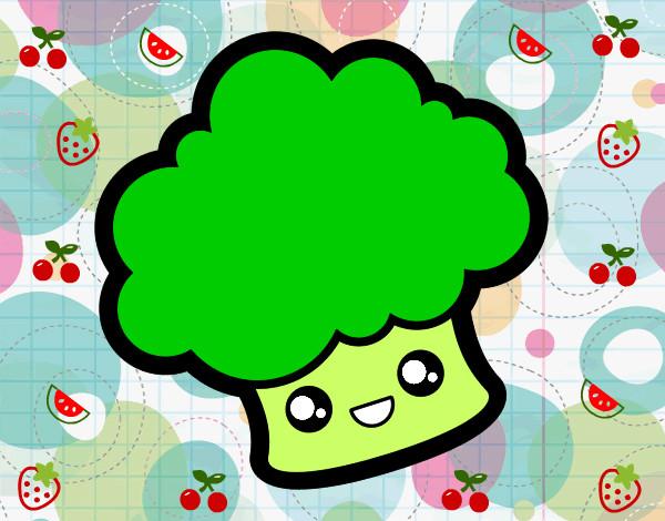 Brócoli Animada Para Colorear