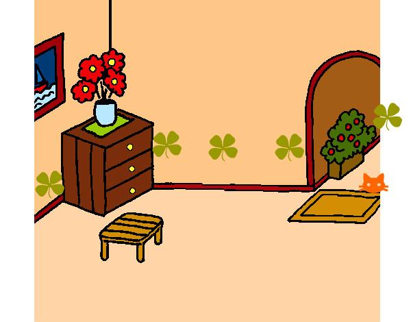 dibujo de casa por dentro pintado por cukiis en dibujos