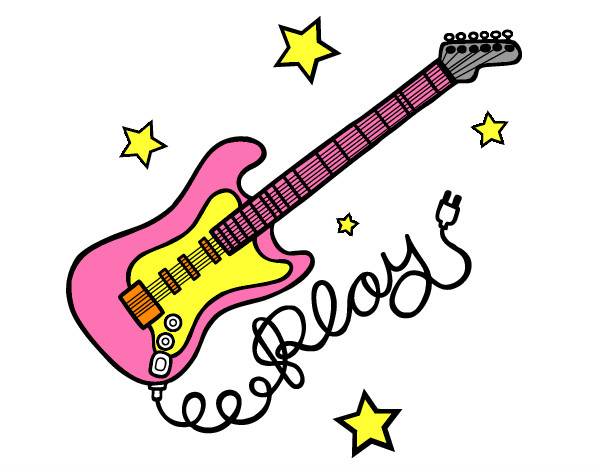 Dibujo de guitarra pintado por Fuega en Dibujosnet el da 2707