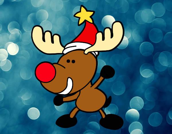 Dibujo de reno de navidad pintado por cecy en for Dibujos de renos en navidad