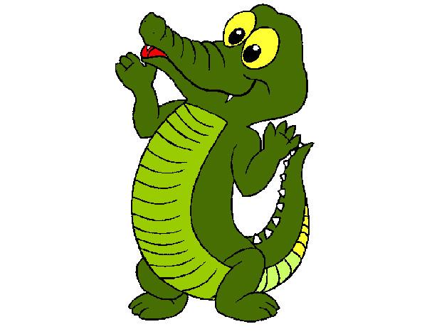 Dibujos Animados De Color Verde: Dibujo De COCODRILO BEBE VERDE Pintado Por Giogata En