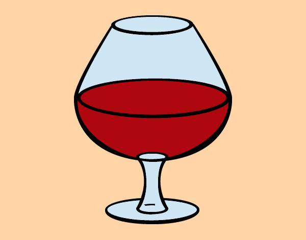 Dibujo de Copa de vino pintado por Burgerking en Dibujos.net el ...