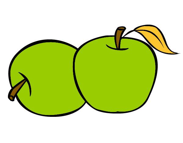 Dibujo de Dos manzanas pintado por Vianney en Dibujosnet el da