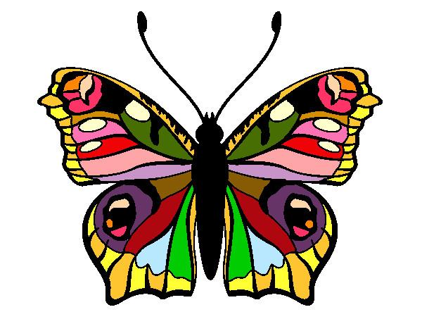 Dibujos De Mariposas Infantiles A Color: Dibujo De Mariposa De Varios Colores Pintado Por Janmafer