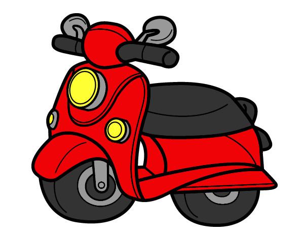 Dibujo de Moto Vespa pintado por Patri78 en Dibujosnet el da 02