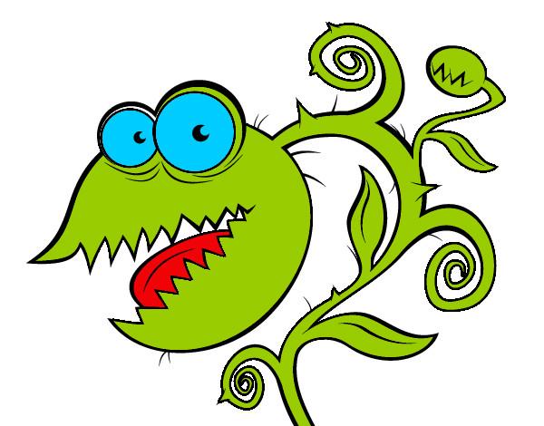 Dibujo de Planta carnívora pintado por Justyn en Dibujos.net el ...