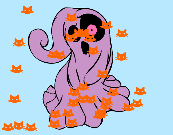 Dibujo De Fantasma Tenebroso Para Colorear: Dibujo De Nicole Pintado Por Villarejo En Dibujos.net El