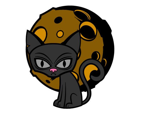 Dibujo De Fantasma Tenebroso Para Colorear: Dibujo De Gato Tenebroso Pintado Por Ansaid En Dibujos.net