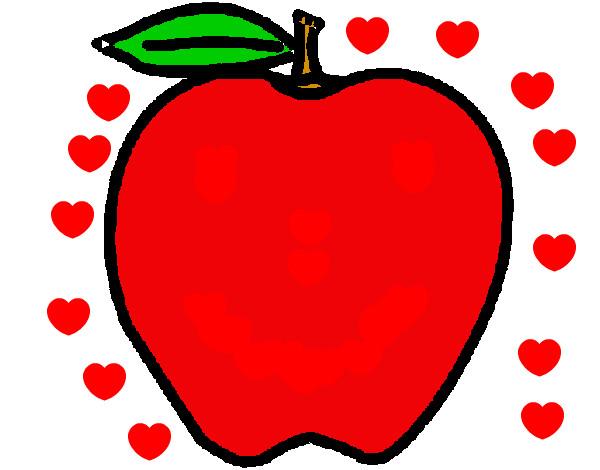 Dibujo de manzana eduardo pintado por Yuri4011 en Dibujosnet el