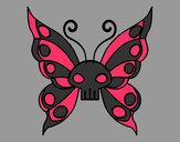 Dibujo Mariposa Emo pintado por michelxD