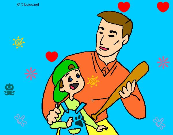 Dibujo de nio con papa pintado por 123karime en Dibujosnet el