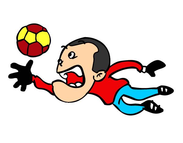 Dibujos de futbol porteros  Imagui