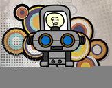 Dibujo Robot con luz pintado por pehuen