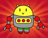Dibujo Robot con pinzas pintado por chunmati1