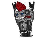 Dibujo Robot Rock and roll pintado por Cococholo