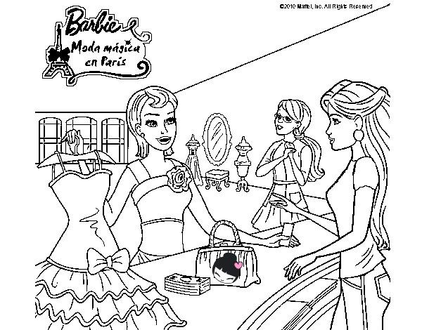 Dibujo de BARBIE EL VESTIDO SECRETO pintado por Natalyvj en