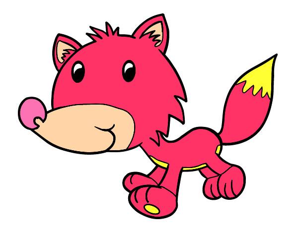 Dibujo de Coyote bebé pintado por Solana1611 en Dibujos.net el día ...