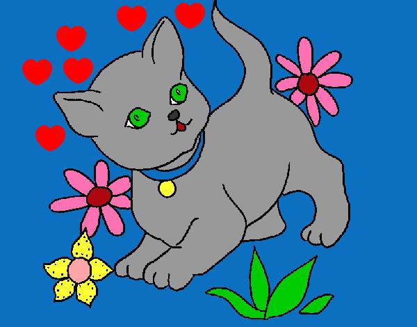 Dibujo de Gatito tierno pintado por Samantitha en Dibujos.net el ...