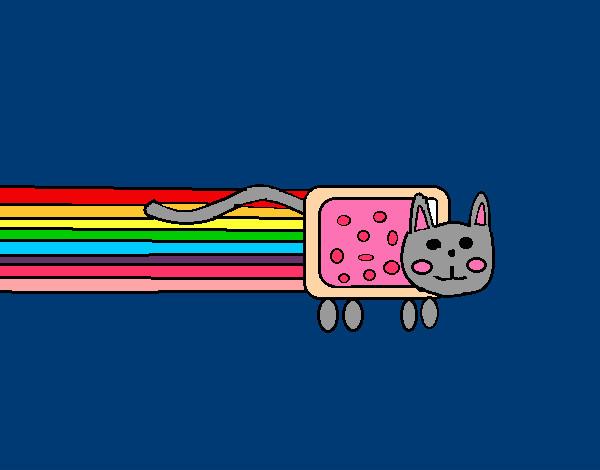 Dibujo de nyan cat pintado por bravo2002 en el - Dibujos de gatos pintados ...