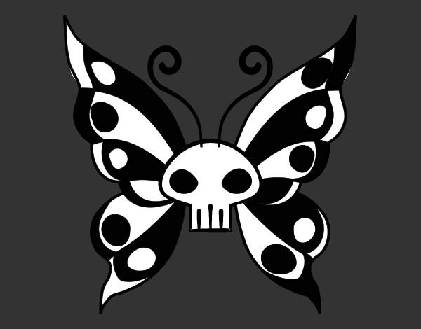 Dibujo De Mariposa Emo Pintado Por Maiakergan En Dibujosnet El Día