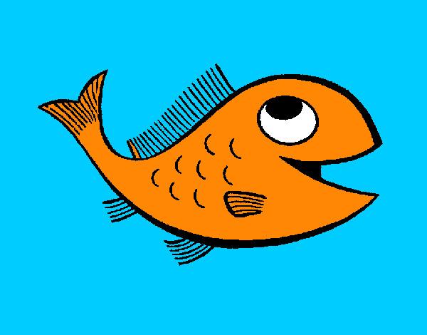 Dibujo de Pez naranja pintado por Blancadd en Dibujosnet el da