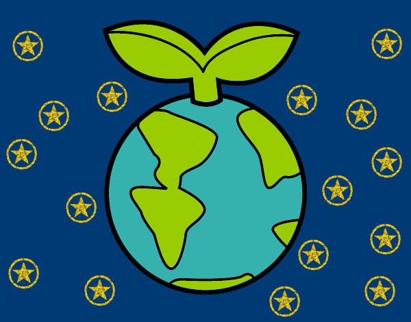 Dibujo de Planeta limpio pintado por Celiacyrus en Dibujosnet el