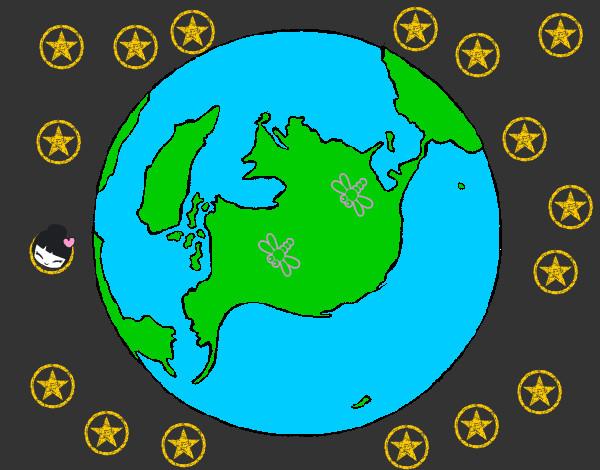 Dibujo de la tierra sana pintado por Marta3333 en Dibujosnet el