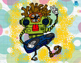 Dibujo Robot DJ pintado por Avavil