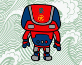 Dibujo Robot fuerte pintado por dark_21