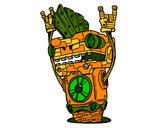 Dibujo Robot Rock and roll pintado por rokilok