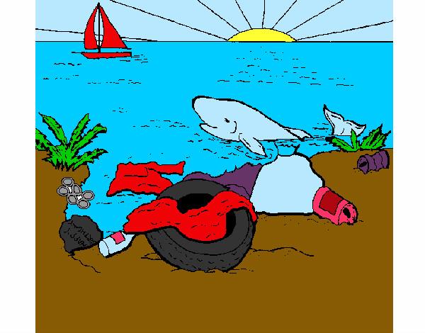 Dibujo de no contaminar mas pintado por 123vic en Dibujos.net el día