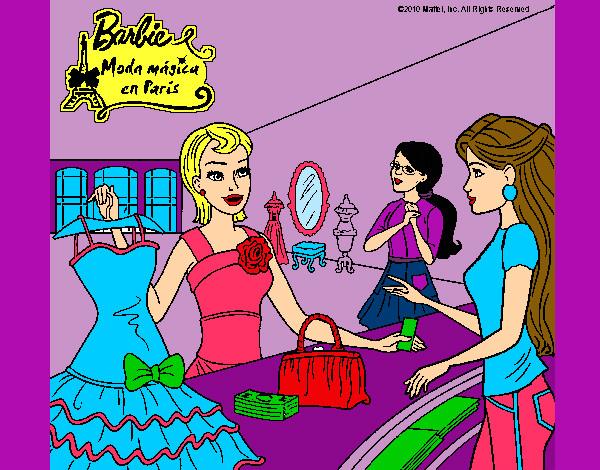 Dibujo de barbie moda magica en paris pintado por Babykaly06 en