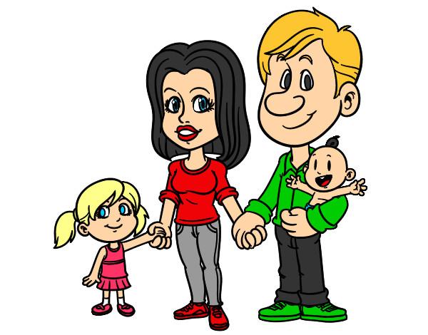 Dibujo De Familia Feliz Pintado Por Ciintiia En Dibujosnet El Día
