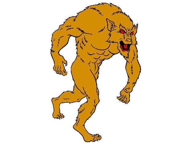 Dibujo De Hombre Lobo Para Colorear: Dibujo De Hombre Lobo Pintado Por Destructo En Dibujos.net