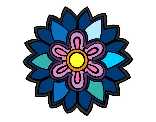 Flores En Dibujo A Color: Dibujo De Flor De Colores Pintado Por Natalia29 En Dibujos