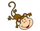 Dibujo Mono gracioso pintado por CiinTiia