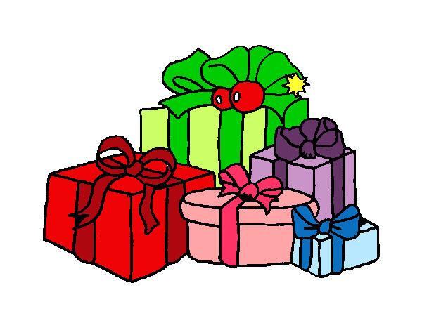 Dibujos De Navidad Regalos.Dibujo De Regalos Pintado Por Ciintiia En Dibujos Net El Dia
